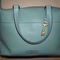 Fossil Handbag  Satchel Sea Glass Leather    Purse Handbag New   Photo
