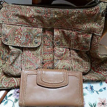 Fossil Handbag With Genuine Leather Fossile Wallet Photo