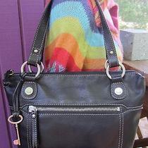 Fossil Hanover Bag Zb2870 Black Leather Long Live Vintage 110 Excellent Photo