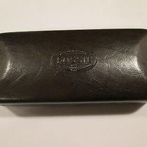 Fossil Hard Shell Sunglass Eyeglass Case Brown Embossed Leather Photo