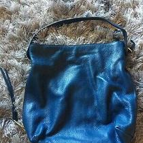 Fossil Hobo Blue Leather Crossbody Shoulder Bag Purse Medium Used Photo