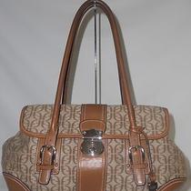 Fossil Honey Brown Classic Signature Satchel Handbag Tote Purse Guc Photo