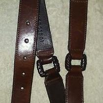 Fossil Horsebit Segmented Brown Leather Belt Size Small Photo