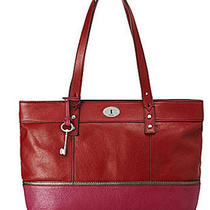 Fossil Hunter Shopper in Red Multi Photo