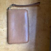 Fossil Issue 1954 Leather Zip Around Clutch Wallet Wristlet Tan Brown Euc Photo