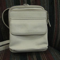 Fossil Ivory Leather Crossbody Handbag Photo