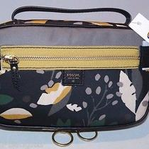 Fossil Ivy Jewelry Case Black Floral Swl1352979 Nwt Photo