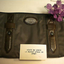 Fossil Jake Insert Pack Gray Microfiber Trimmed Leather Nwt Photo
