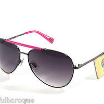 Fossil Katie Aviator Pink & Gunmetal Sunglasses Ms4091650 Nwt in Leather Case Photo