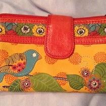 Fossil Kelly Icon Leather Wallet Rare Hard to Find Bird Applique Photo