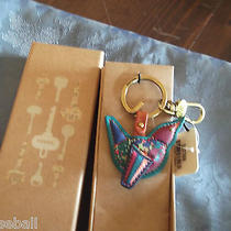 Fossil Key Chain Leather Bird Multi-Color New With Tags Photo