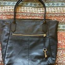 Fossil Key Collection Black Pebble Leather Tote Photo