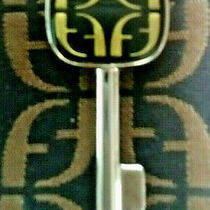 Fossil Key Fob Logo Purse Handbag Hang Tag Charm Silver Nickle Replacement 2