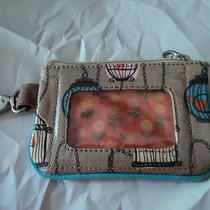 Fossil Key-Per Bird Cage Zipper Coin Purse W/id Holder Lk Photo