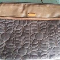 Fossil Key-Per Black and Brown Quilted Laptop Bag With Key Fob Photo