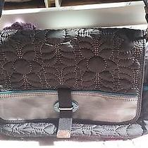 Fossil Key-Per Black Quilted Messenger Laptop Bag  Photo