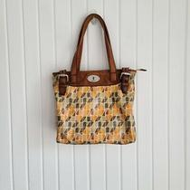 Fossil Key-Per Coated Canvas Geometric Tote/shoulder Bag Photo