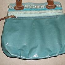 Fossil Key Per Coated Canvas Shopper Tote Handbag Shoulder Bag Zb 4506 Photo