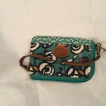 Fossil Key-Per Coated Canvas Zip Around Wristlet Wallet - Flower Bird Pattern Photo