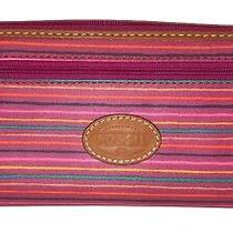 Fossil Key-Per Coated Zip Around Wallet / Clutch  Striped Photo