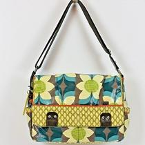 Fossil Key-Per Cross Body Messenger Laptop Diaper Bag Large Coated Canvas Photo