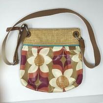 Fossil Key Per Cross Body Messenger Purse Hand Bag Floral Adjustable Zipper Photo