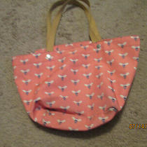 Fossil Key Per East West Zip Shopper Tote Bag Pink Multi Bees  Photo