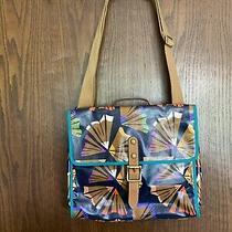 Fossil Key-Per Flap Crossbody Messenger Bag Purse Nwt Pencil Shavings Photo