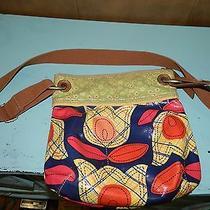 Fossil Key-Per Floral Coated Canvas Cross Body Purse Handbag Oil Cloth  Photo