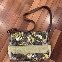 Fossil Key-Per Floral Coated Canvas Large Messenger Bag Purse Crossbody Photo