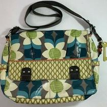 Fossil Key Per Floral Coated Canvas Messenger/laptop Bag Photo
