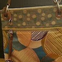 Fossil Key-Per Floral Coated Canvas Tote Purse Handbag Crossbody Bag Photo