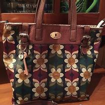 Fossil Key Per Floral Large Handbag Tote Photo
