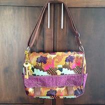 Fossil Key Per Floral Purse Messenger Coated Canvas Crossbody Camo Diaper Bag Photo