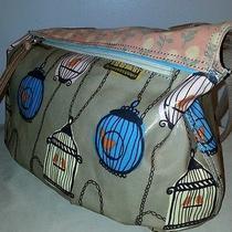 Fossil Key Per Handbag Tote Extra Large Shoulder Bag Bird Cages Photo