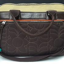 Fossil Key Per Laptop Attache Messenger Bag Briefcase Brown Quilted W/strap Photo