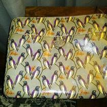 Fossil Key Per Laptop Sleeve Bird Pattern Padded Canvas Bag Carry Photo