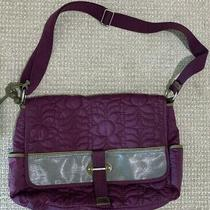 Fossil Key-Per Large Purple Quilted Crossbody Laptop Diaper Bag Shoulder Bag Photo
