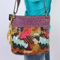 Fossil Key-Per Med Multicolor Canvs Fabric  Shoulder Crossbody Satchel Purse Bag Photo