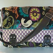 Fossil Key Per Multi Color Birds Flowers Laptop Tablet Book Messenger Bag Photo