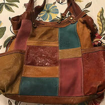 Fossil Key-Per Multi Color Tote Hobo Satchel Shopper Shoulder Bag W/ Key Photo