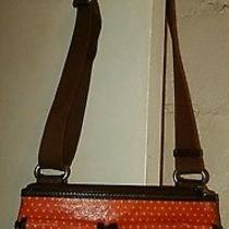 Fossil Key Per Orange Coated Canvas Crossbody Bag  Photo