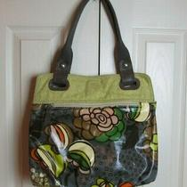 Fossil Key-Per Purse Handbag Coated Canvas Floral Hobo Bag Brown Yellow Tan Photo