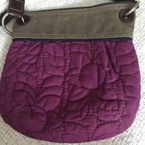 Fossil Key-Per Quilted Nylon Brown Crossbody Handbag Shoulder Bag Photo