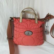 Fossil Key-Per Rust/orange Quilted Crossbody Purse Photo