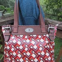 Fossil Key Per Shopper Bag Multi Colored Retro Zb5126 Coated Canvas & Leather Photo
