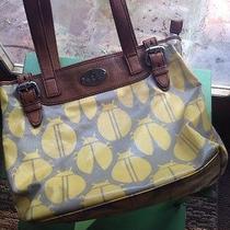 Fossil Key-Per Shoulder Bag Scarab Beatles Oil Cloth Leather Photo