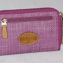 Fossil Key Per Solid Sld Zip Multi Iphone Smartphone Wallet Grape Sl4128a663 Nwt Photo