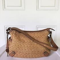 Fossil Key Per Wicker Woven Shoulder Bag Hobo Purse Pocketbook Photo