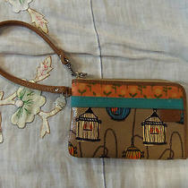 Fossil Key Per Wristlet Bird Cages Excellent Used Condition Card Holder Photo